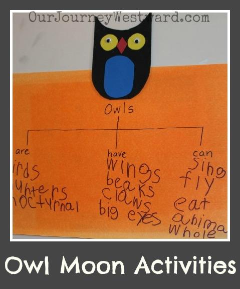 Owl Moon Activities   Our Journey Westward