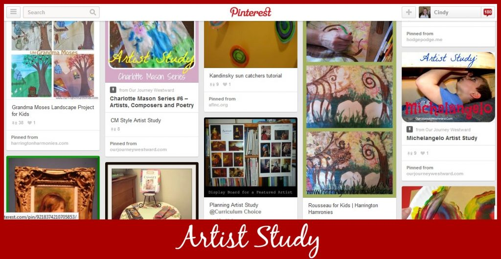 Cindy West's Artist Study Pinterest Board