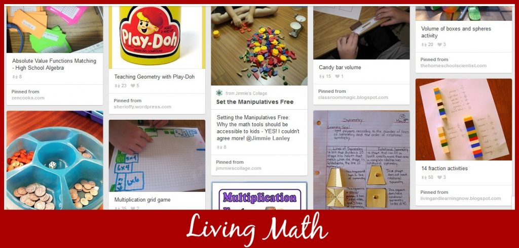 Cindy West's Living Math Pinterest Board