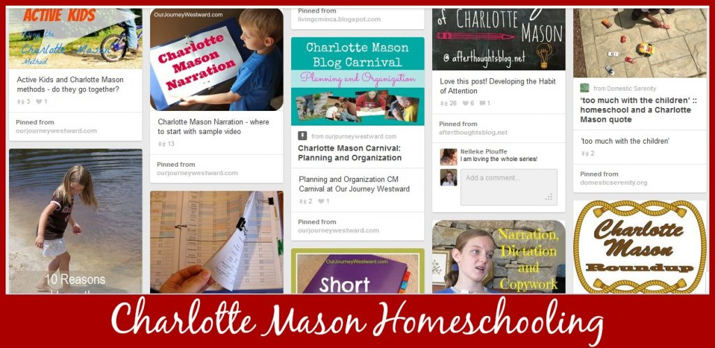 Cindy West's Charlotte Mason Homeschooling Pinterest Board