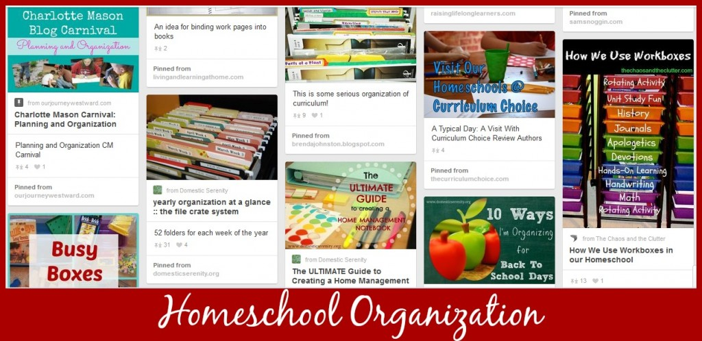 Cindy West's Homeschool Organization Pinterest Board