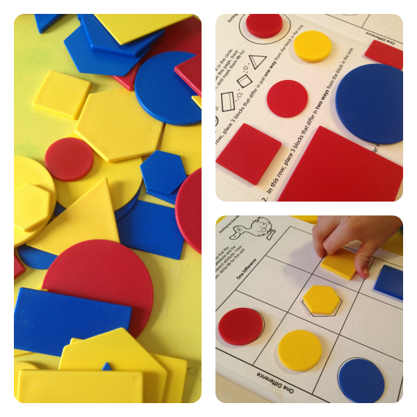 Attribute blocks are a great learning tool for elementary students!