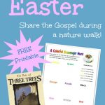 An Easter nature walk idea using The Three Trees  {free printable}