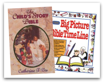 These two books paired together make a great early Bible study curriculum.
