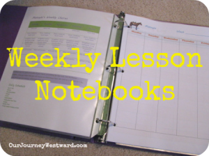 Weekly-Lesson-Notebooks