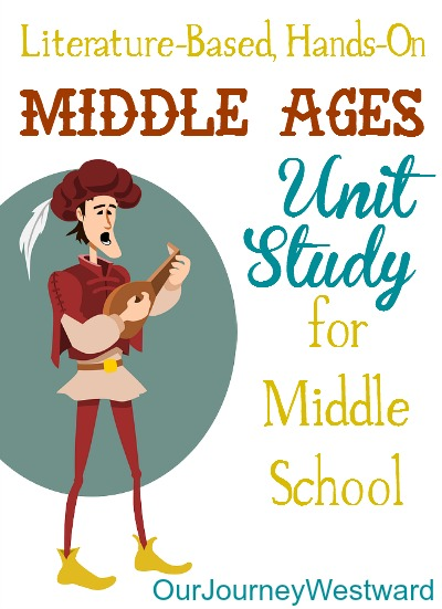 Plans for a fun medieval unit study for middle school homeschool students!
