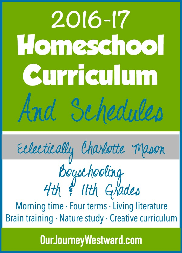 Homeschool curriculum and schedules from a veteran homeschooler.