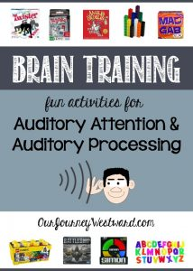Auditory attention and auditory processing are cognitive skills. Building those skills can be easier than you think - and fun!