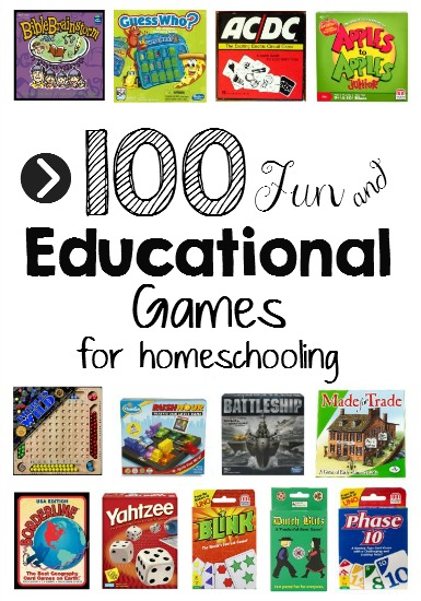 Games are a very important tool for learning in our homeschool!