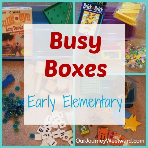 Busy Boxes for Early Elementary | Our Journey Westward