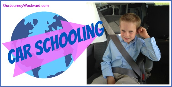 Find more than 40 creative and productive ideas to homeschool in the car on those busy days when you're running all over town.