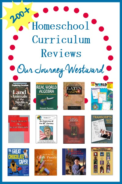 Cindy West of Our Journey Westward has spent years evaluating homeschool curriculum and writing reviews. Find everything from popular curriculum to up and coming curriculum reviews for every subject.