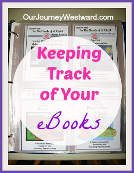 A great idea for a visual reminder of your e-book titles