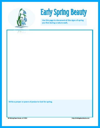 Early Spring Nature Study Printable