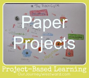 Simple Paper Projects for Project-Based Learning @CindyWest (Our Journey Westward)
