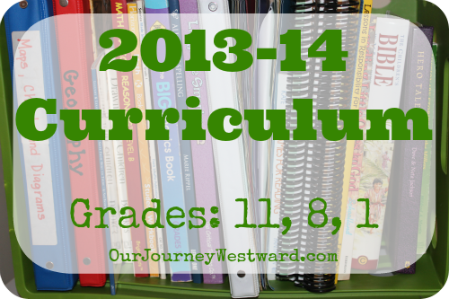 2013-14 Curriculum Choices  Our Journey Westward