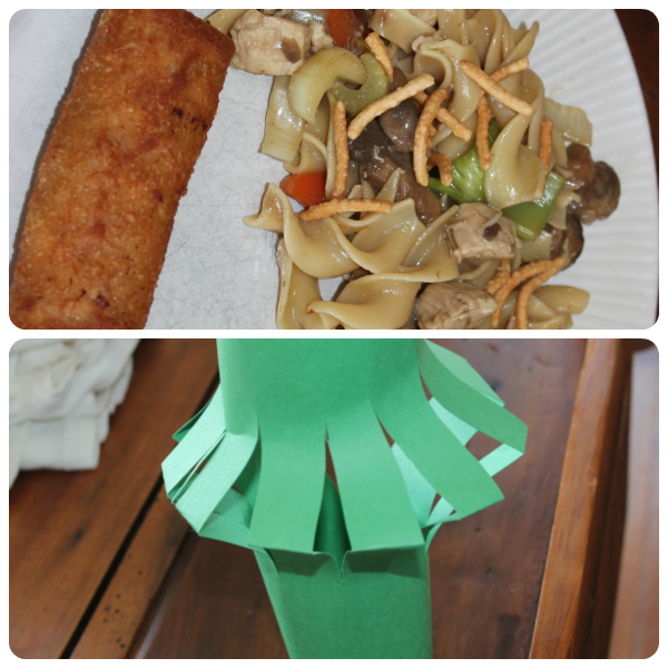 Chinese food and craft from Chinese unit study