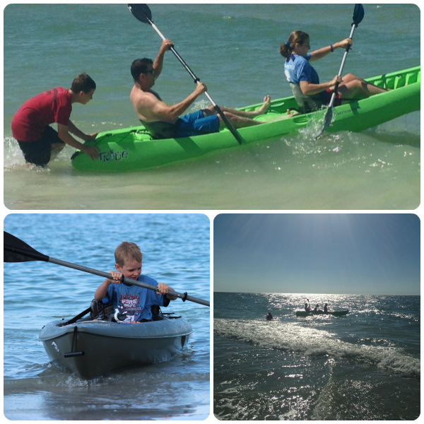 Kayaking on the Gulf at 810 Gulfside Indian Rocks Beach