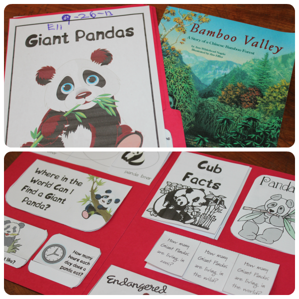 Panda Lapbook from Homeschool Share