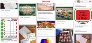 Cindy West's living math Pinterest board