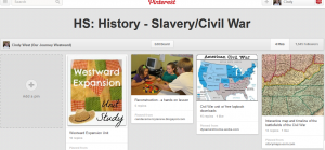 Cindy's Slavery and Civil War Pinterest Board