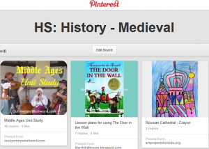 Cindy's Middle Ages Pinterest Board