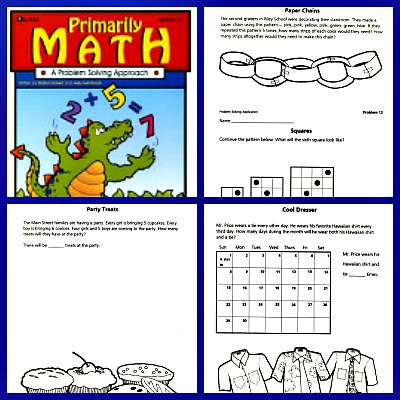 Primarily Math is a great book for 2nd-4th problem solving activities