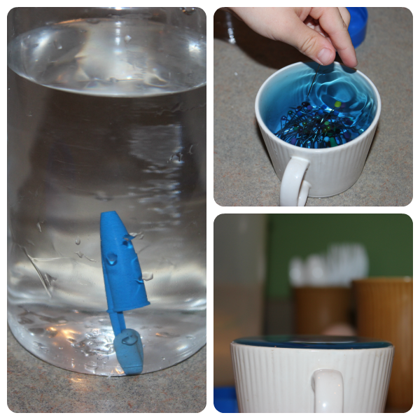 Water experiments as part of an ocean study