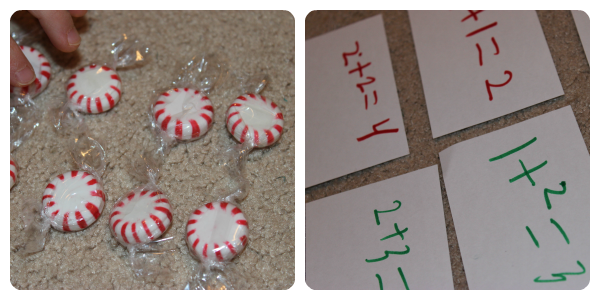 Doubling lesson with mint candies