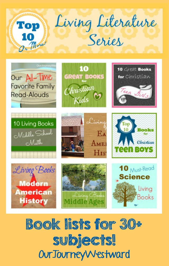 Living Literature has been key to our homeschool over the years! These fabulous living literature booklists span all ages and subject areas.