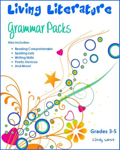 Living Literature Grammar Packs w border
