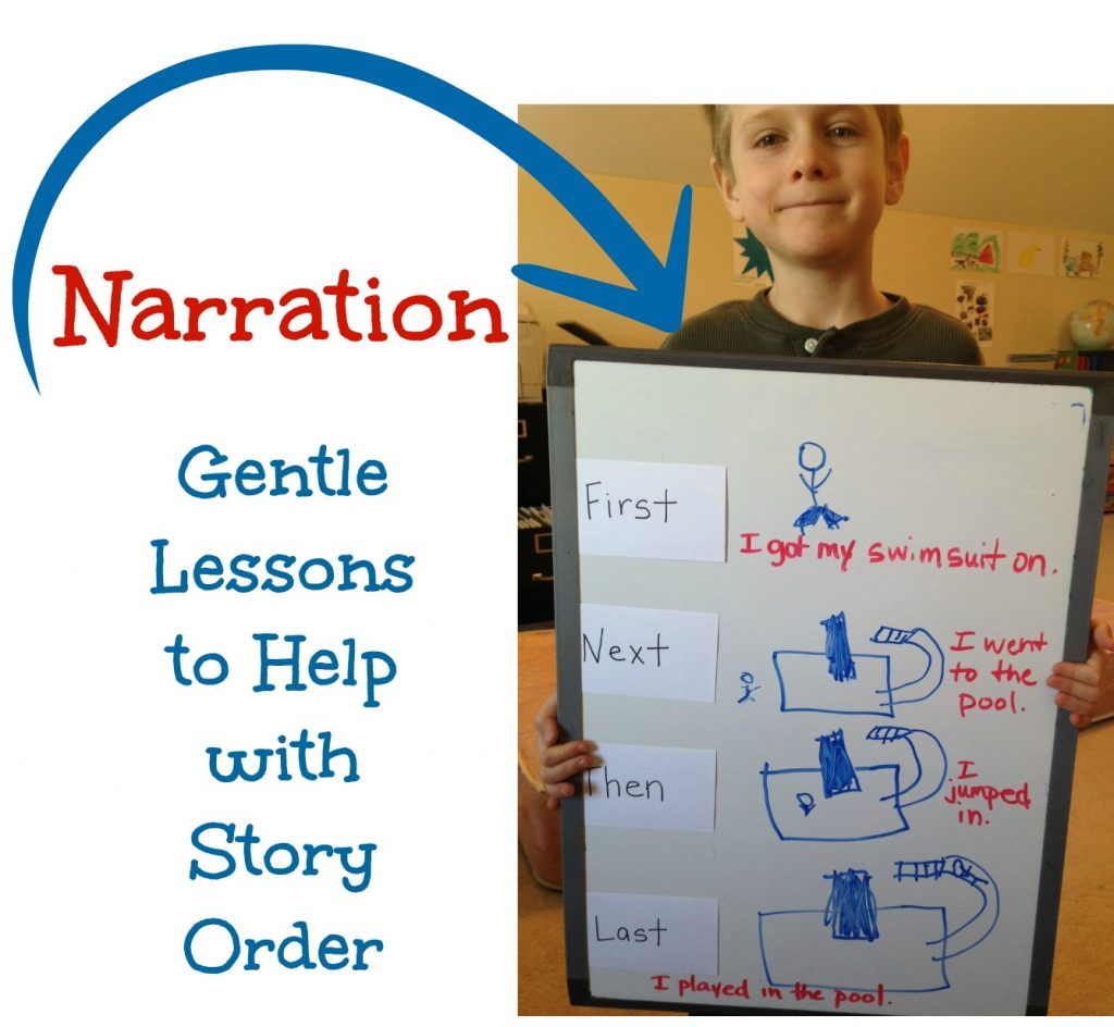 When Charlotte Mason narration is a struggle, this story order lesson can give just the visual (and active) stimulation your child might need.