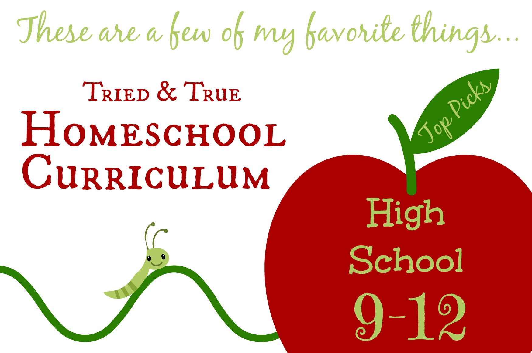 High School Homeschool Curriculum Picks