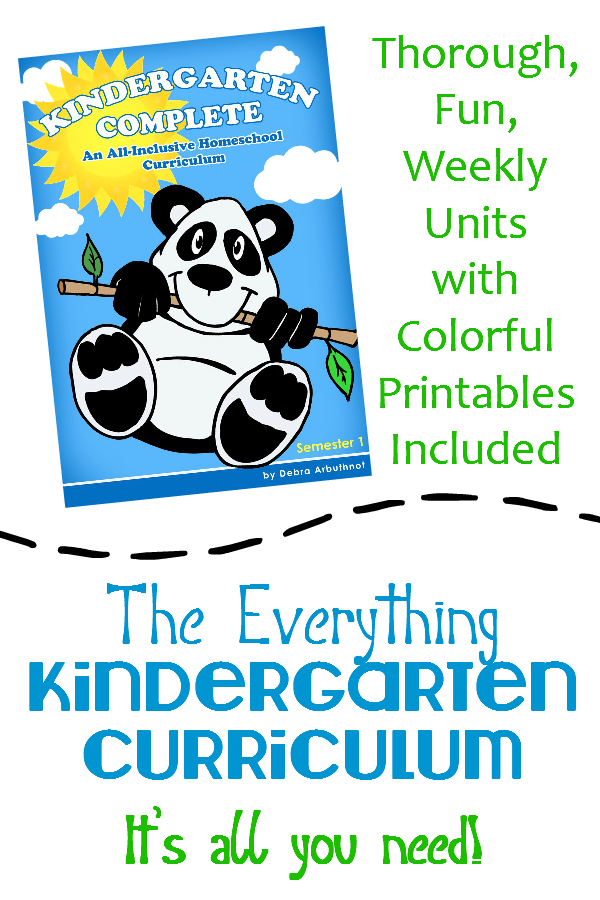 Kindergarten Complete: All-in-One FUN Unit Study Curriculum
