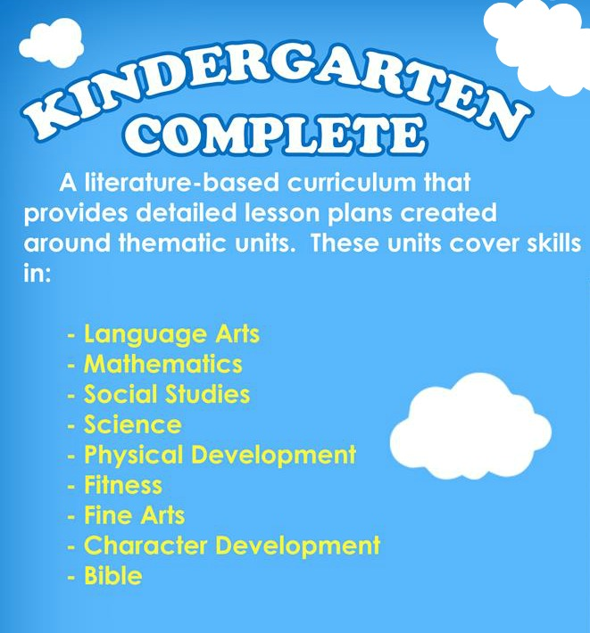 Kindergarten Complete is a fun, all-in-one curriculum that saves mom all kinds of time planning school!