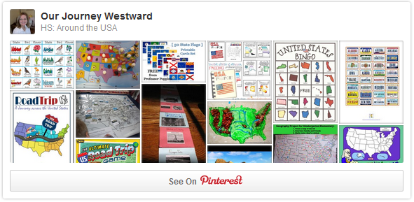 Cindy West's Around the USA Unit Study Pinterest Board