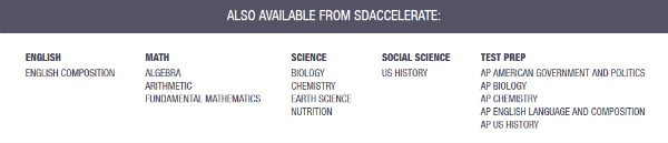 Standard Deviants Accelerate is a great option for online supplementation of your middle or high school homeschooling.