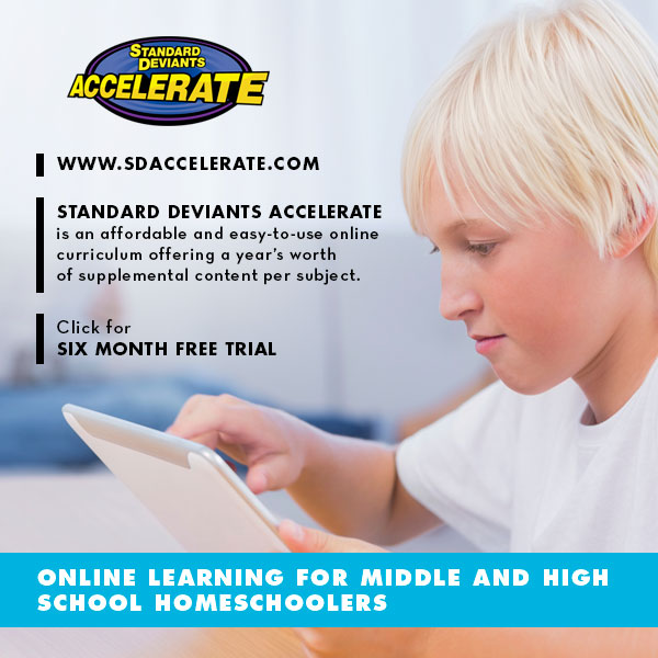 Free access to Standard Deviants Accelerate - great for middle and high school learning - through Nov. 15, 2014.  Hurry!