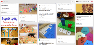 The living math Pinterest board from Our Journey Westward is packed!