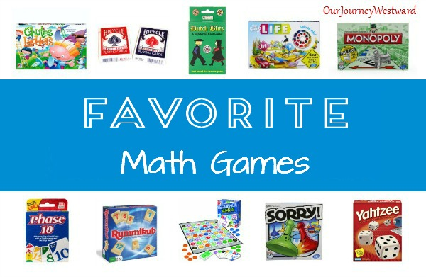 favmathgam Here's a list of our family's most played games that promote math.es