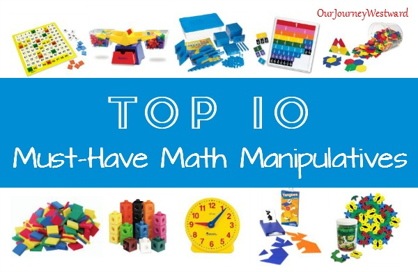 Math manipulatives make math easier to understand, especially in the younger years. If you can only buy a few, these are my top choices.
