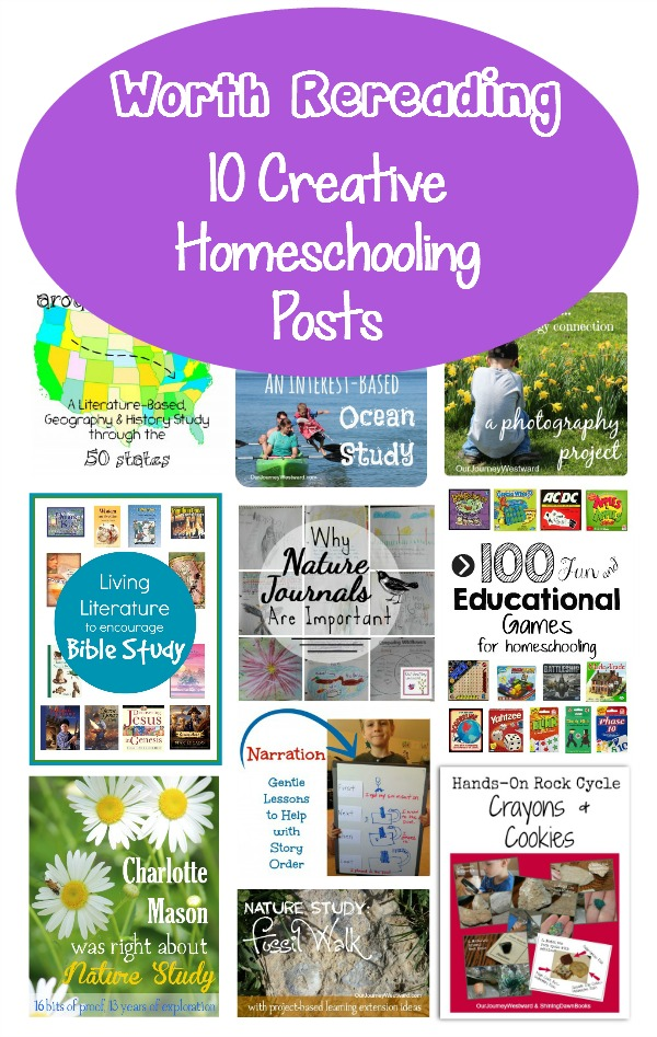 Our Journey Westward takes a look back to her 10 favorite creative homeschooling post from 2014.
