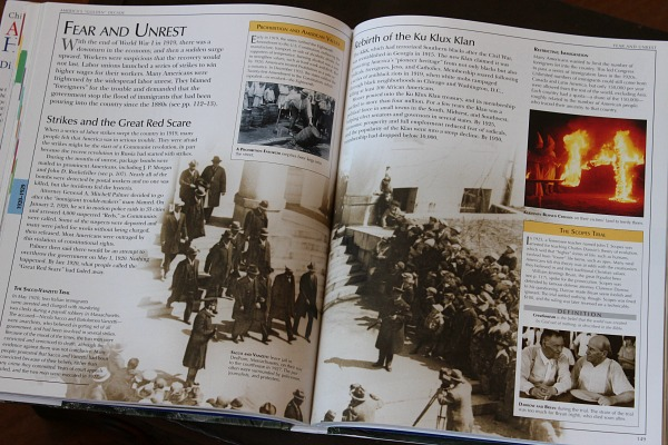 DK's Children's Encyclopedia of American History is a great addition to any upper level homeschool history course.