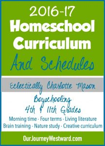 Homeschool curriculum and schedules from a veteran homeschooler.