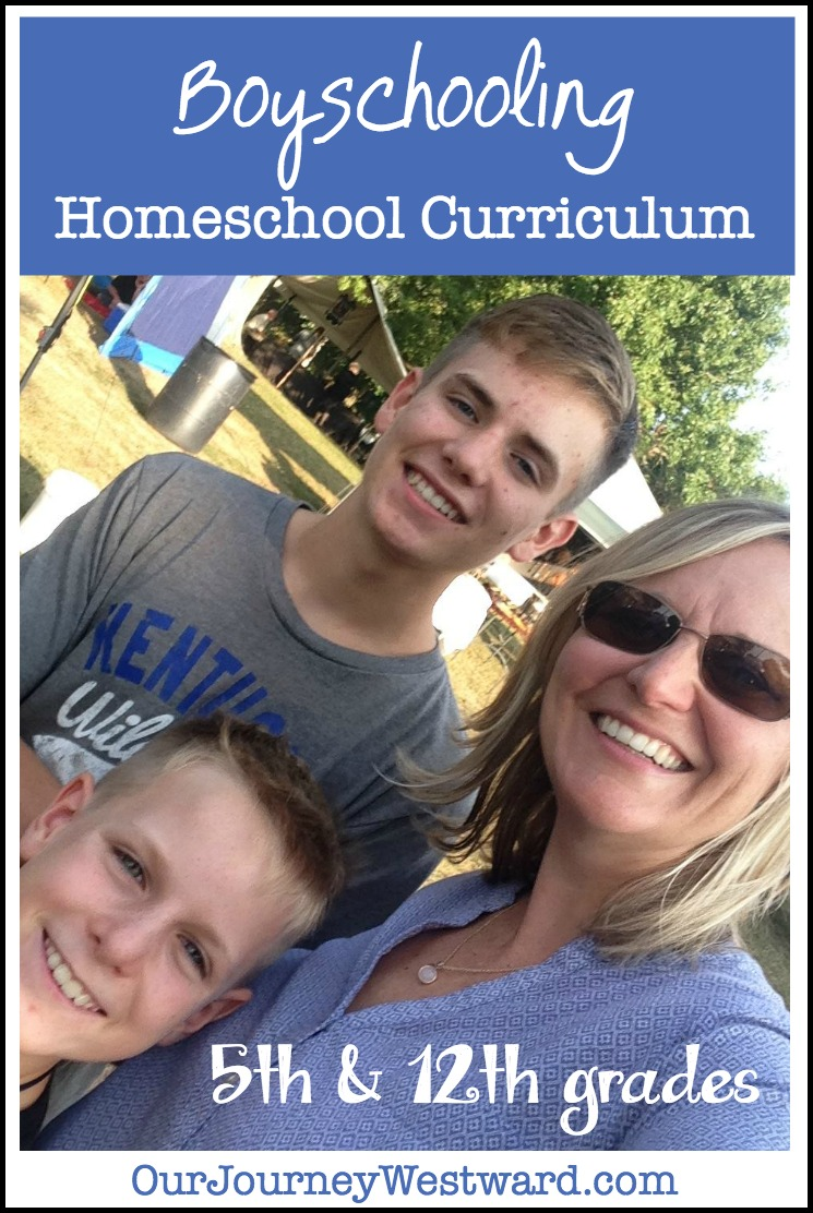 Boyschooling Homeschool Curriculum for 5th and 12th Grades (2017-18)