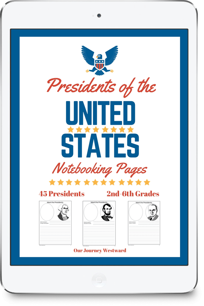 Meet the Presidents Notebooking Pages