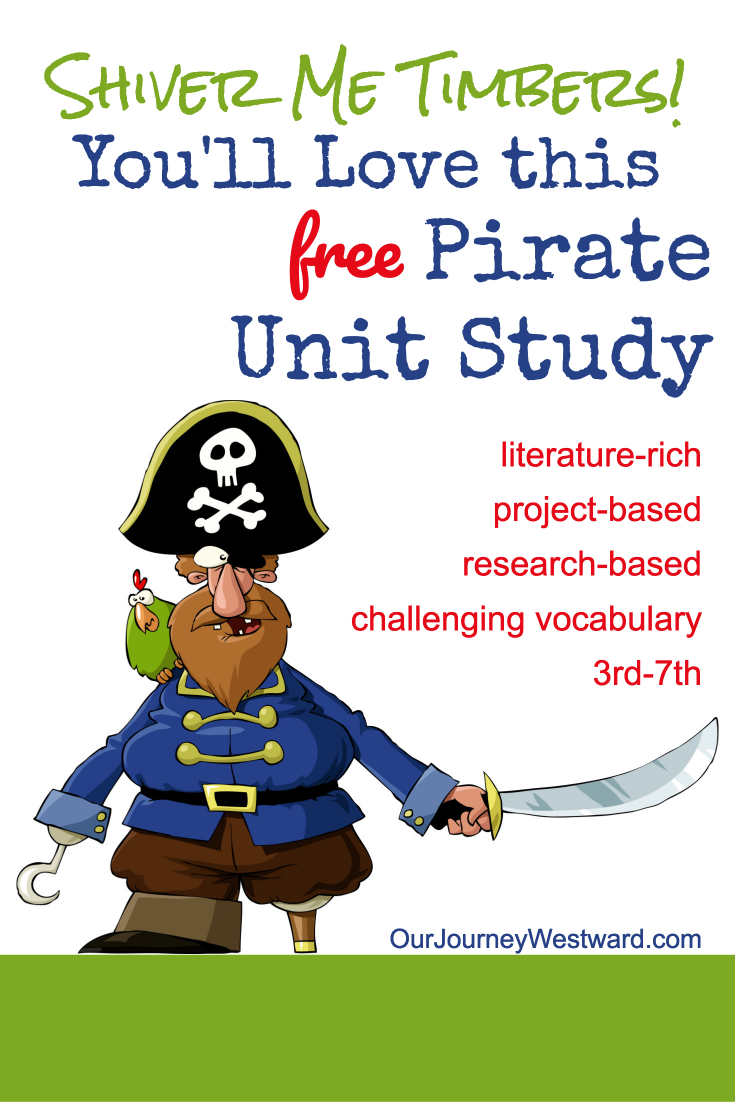 "Walk the plank and take a deep dive into this pirate unit study about the ""golden age"" of pirates."