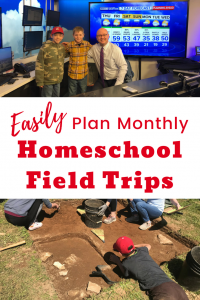 Monthly homeschool school field trips are easy to plan and make a difference!