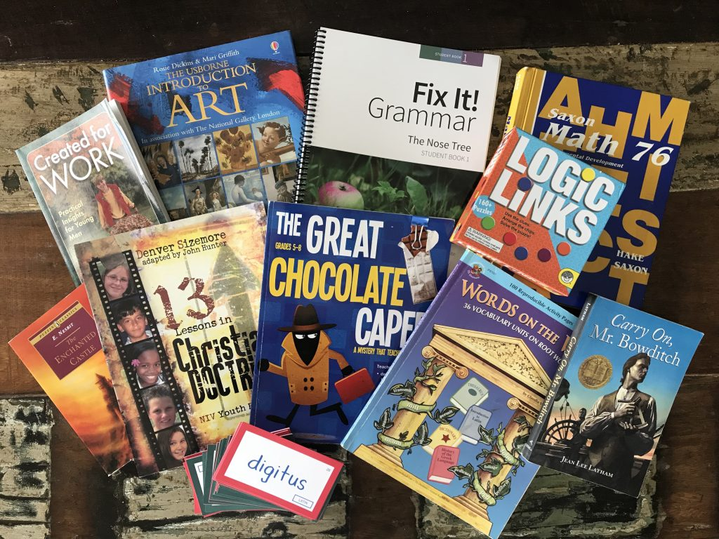 Charlotte Mason inspired curriculum picks for a 6th grade boy
