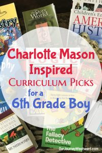 Charlotte Mason inspired curriculum picks and weekly schedule for early middle school